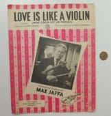 Love is Like a Violin vintage sheet music song Mon Coeur est un Violon 1960s